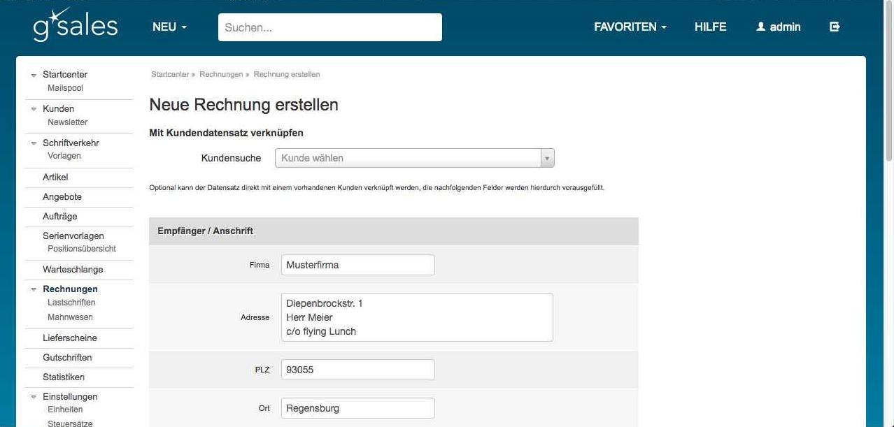 Online Rechnungen Schreiben Und Versenden Mit Gsales Vitool